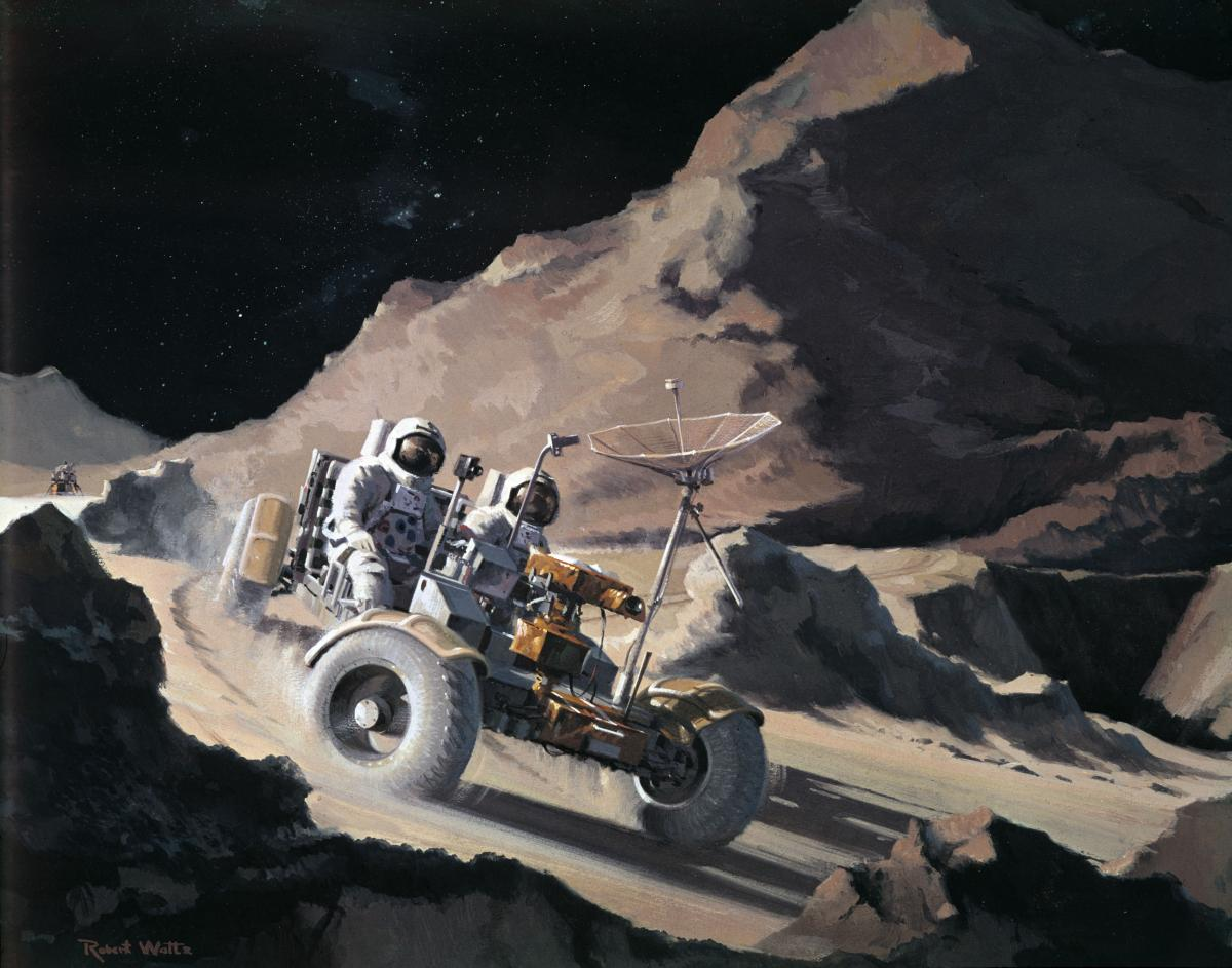 NASA Landed Electric Cars On The Moon Decades Before Elon ...