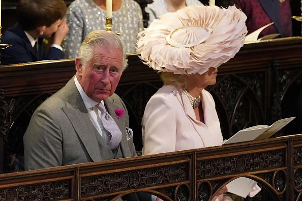 camilla parker bowles� wedding hat compared to king prawn