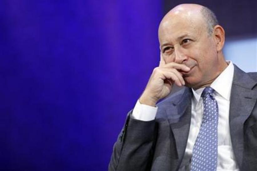 Blankfein, Chairman and CEO of Goldman Sachs, participates in a panel discussion at the Clinton Global Initiative in New York