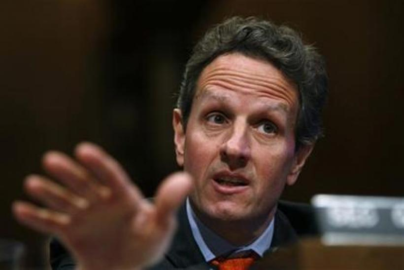 Treasury Secretary Tim Geithner testifies before the Senate Budget Committee on the President's Fiscal Year 2011 Budget on Capitol Hill in Washington