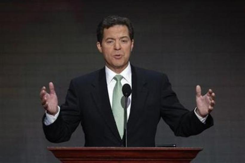 Senator Sam Brownback speaks at the 2008 Republican National Convention in St. Paul