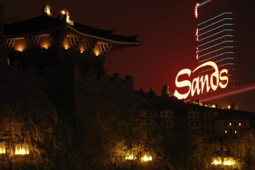 The Sands casino and hotel is seen in Macau