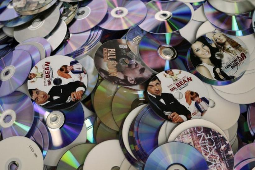Pirated DVD's and CD's are seen in South Africa
