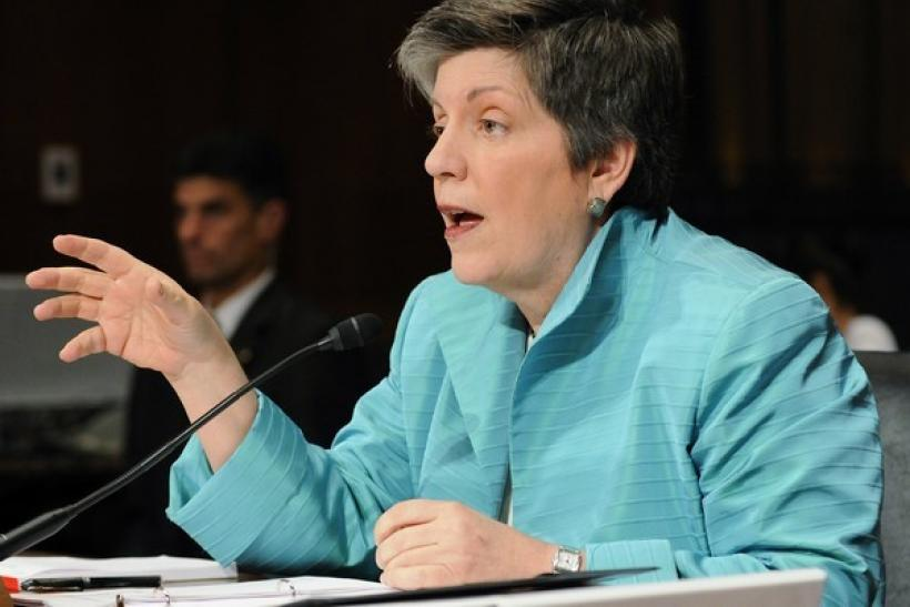 U.S. Homeland Security Secretary Janet Napolitano answers questions during a hearing of the Senate Judiciary Committee on Capitol Hill