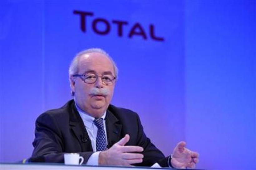 Christophe de Margerie, Chief Executive Office of French oil company Total, speaks during the company's 2009 annual results presentation in Paris