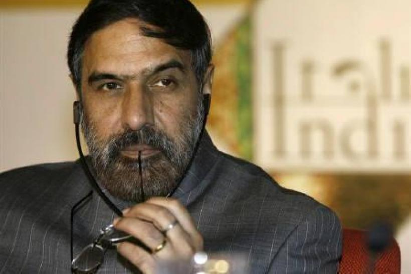 Trade Minister Anand Sharma in New Delhi December 14, 2009. Sharma said on Tuesday a dispute over restrictions on the import of Chinese telecoms equipment will not hurt commercial ties between the world's two fastest-growing economies.
