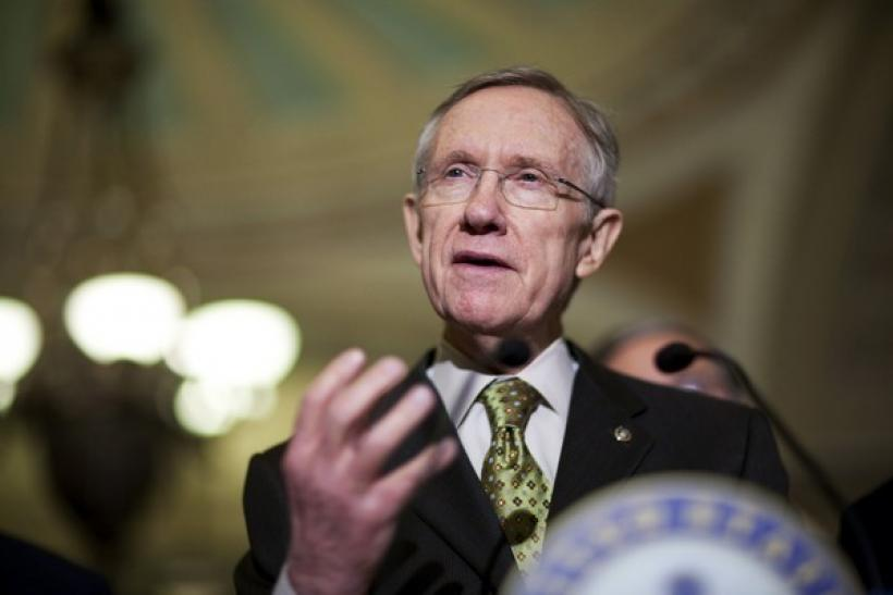 Senate Majority Leader Harry Reid (D-NV) speaks to the media