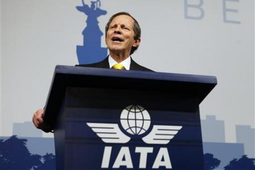 International Air Transport Association CEO Giovanni Bisignani speaks at the IATA Annual General Meeting in Berlin