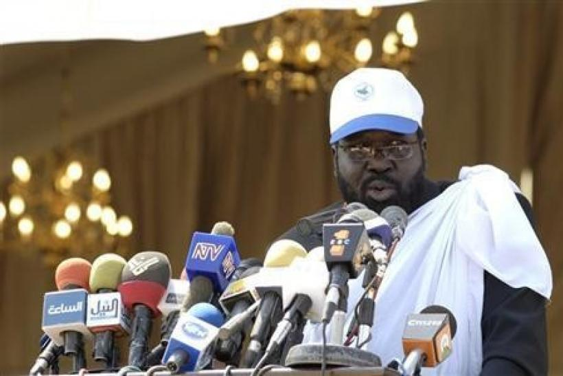 South Sudan President Salva Kiir speaks