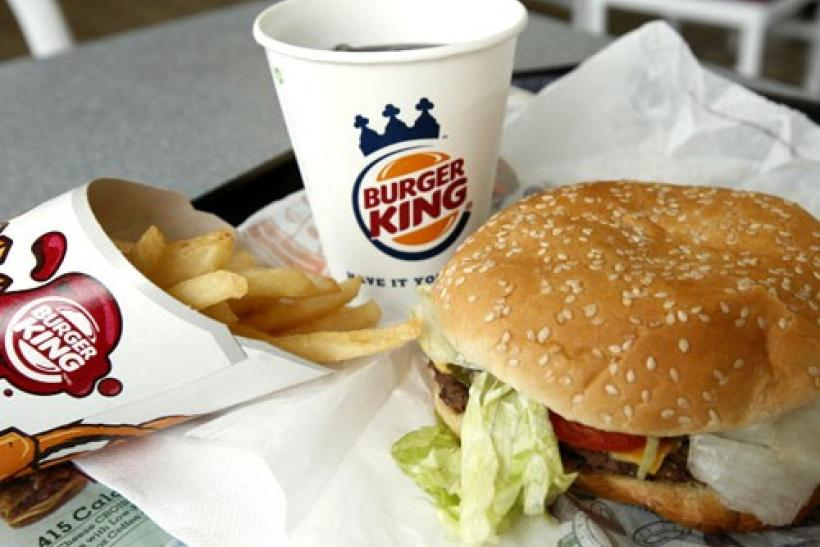 A meal at a Burger King restaurant in Virginia