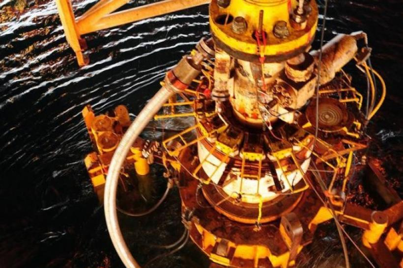 The damaged blowout preventer from the Deepwater Horizon oil rig