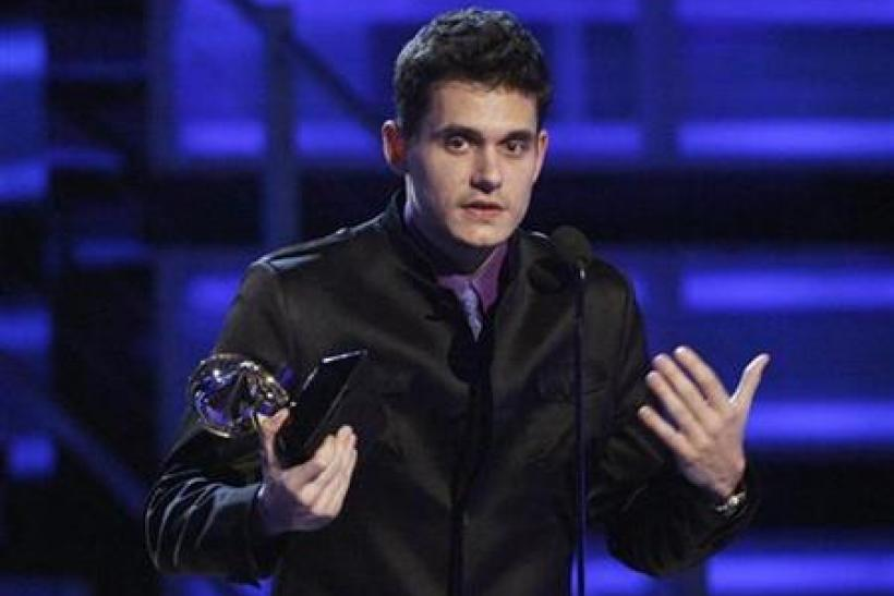 John Mayer accepts the Grammy for Best Male Pop Vocal Performance for his record Say at the 51st annual Grammy Awards in Los Angeles