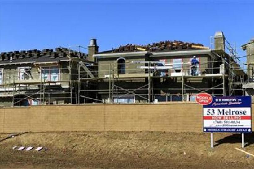 Houses are being constructed in this file photo.