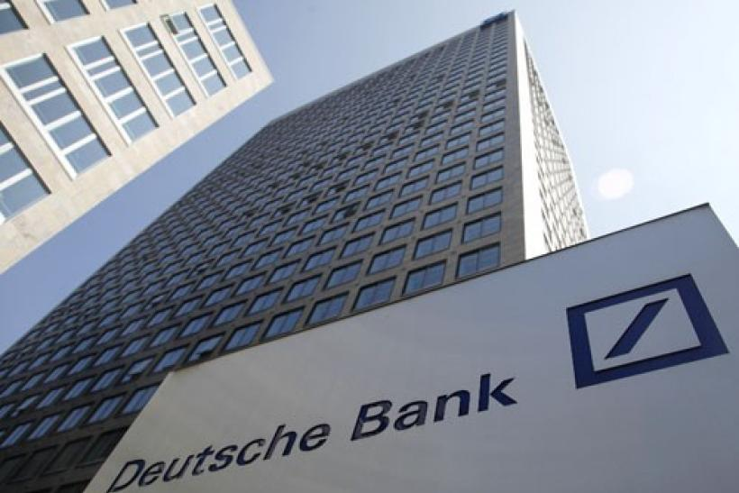 The Deutsche Bank headquarters in Frankfurt, Germany