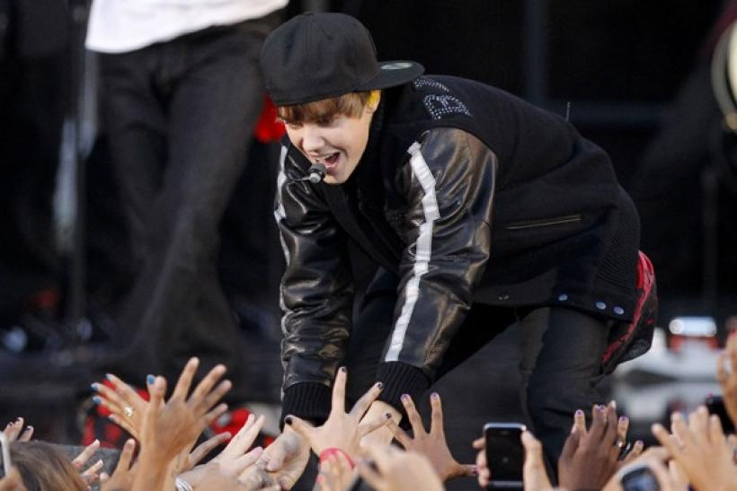 Bieber performs at the 2010 MTV Video Music Awards in Los Angeles