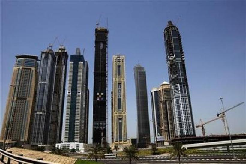 Skyscrapers are seen along the Sheikh Zayed highway in Dubai
