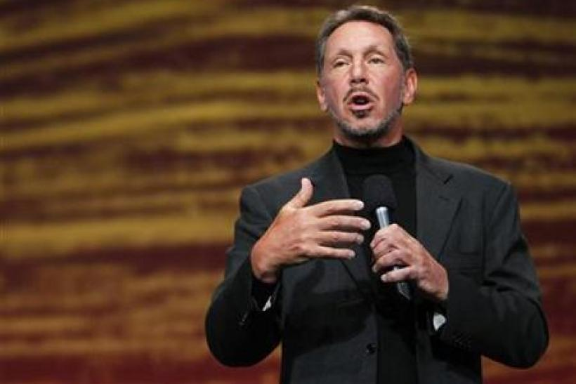Oracle CEO Larry Ellison speaks