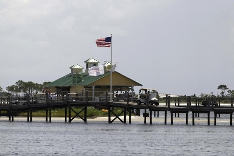 A view of Lime's Bayside Bar and Grill in Panama City Beach August 14, 2010, where U.S. President Barack Obama, first lady Michelle Obama and their daughter Sasha enjoyed lunch during their short vacation on the Florida Gulf Coast.