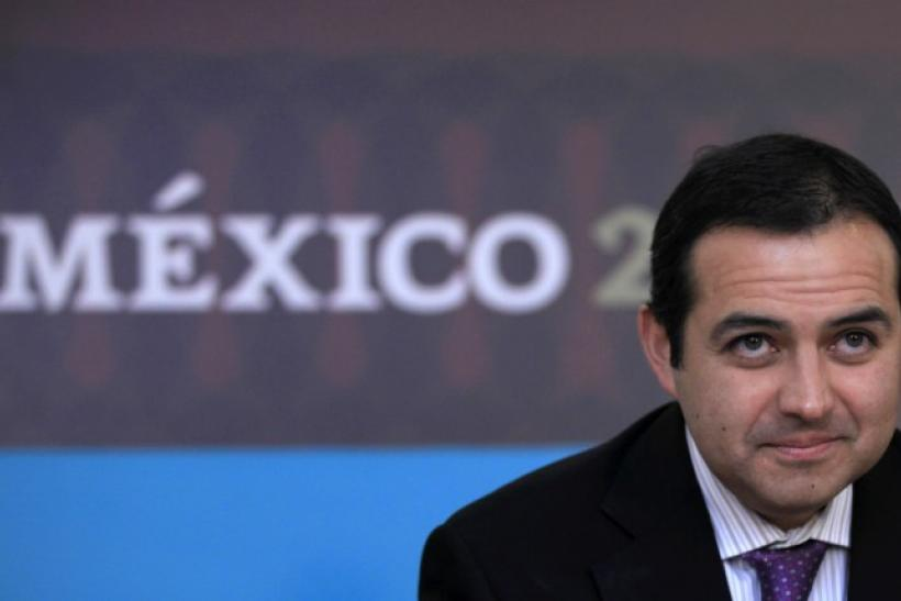 Mexico's Finance Minister Cordero attends a news conference in Mexico City