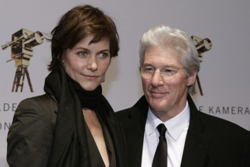 U.S. actor Richard Gere and his wife Carey Lowell