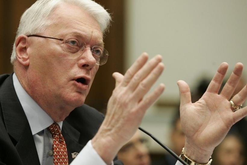 U.S. Senator Jim Bunning (R-KY) testifies before the House Committee on Government reform in Washington March 17, 2005.