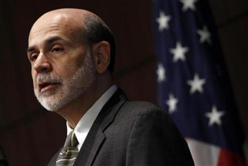 Chairman of the Federal Reserve Ben Bernanke delivers opening remarks at a Federal Reserve System symposium in Arlington, Virginia