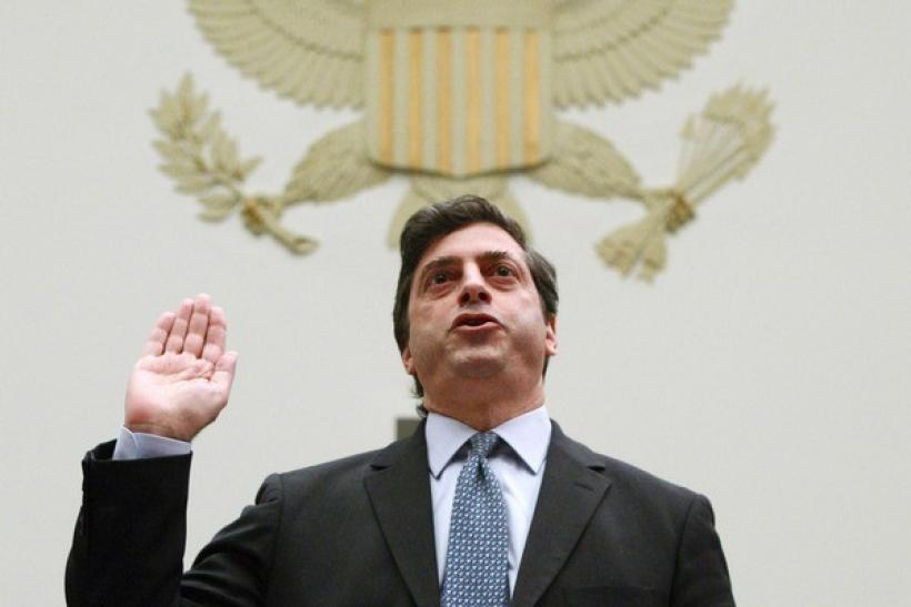 Director of Securities and Exchange Commission Division of Enforcement Robert Khuzami is sworn in before testifying before a House Oversight and Government Reform hearing on Capitol Hill in Washington, December 11, 2009.