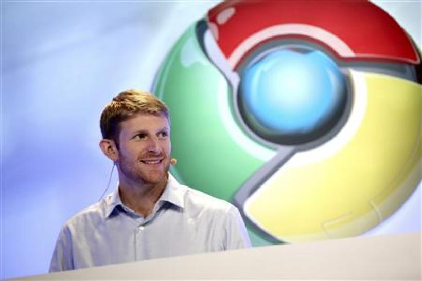 Brian Rakowski, director of product management for Google, speaks during the company's Chrome event in San Francisco