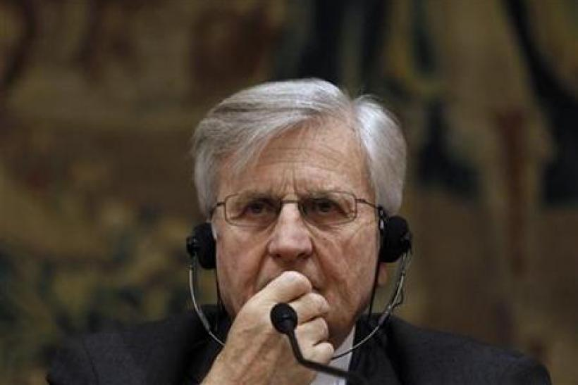 European Central Bank President Jean-Claude Trichet attends a news conference in Madrid