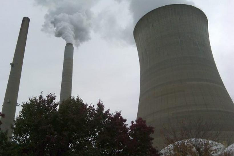The American Electric Power Company's cooling tower at their Mountaineer plant is shown in New Haven, West Virginia October 27, 2009.