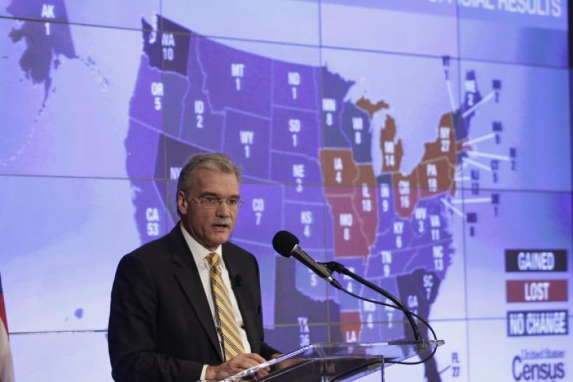 Director of U.S. Census Bureau Robert Groves speaks during a presentation of the 2010 Census U.S. population
