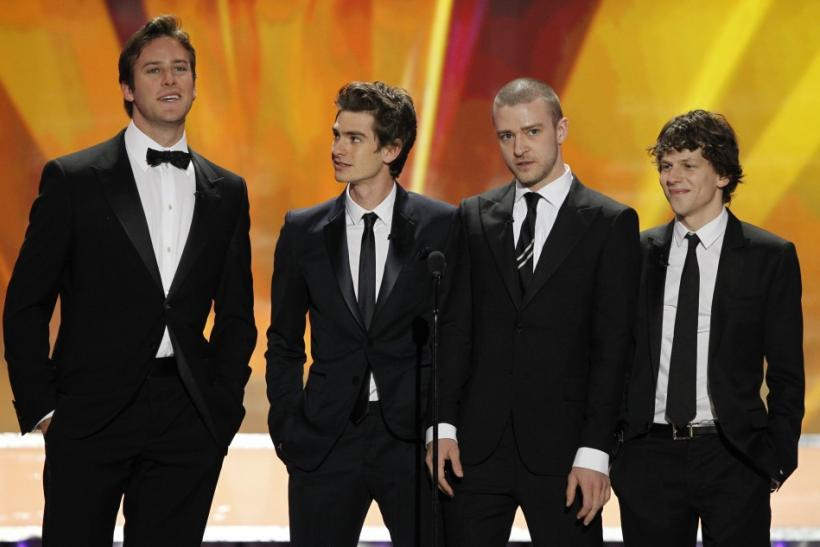 "Cast of ""The Social Network"" introduce a clip at the 17th annual Screen Actors Guild Awards in Los Angeles"