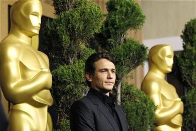 """Franco, best actor nominee for his role in """"127 Hours"""", attends the nominees luncheon for the 83rd annual Academy Awards in Beverly Hills"""
