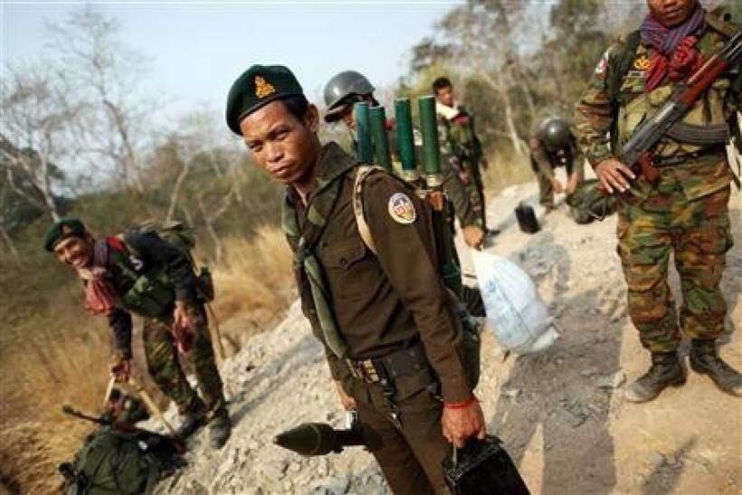Cambodian soldiers