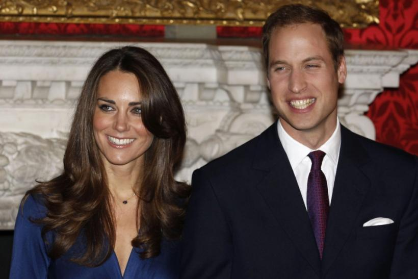 File photo of Britain's Prince William and his fiancee Kate Middleton.