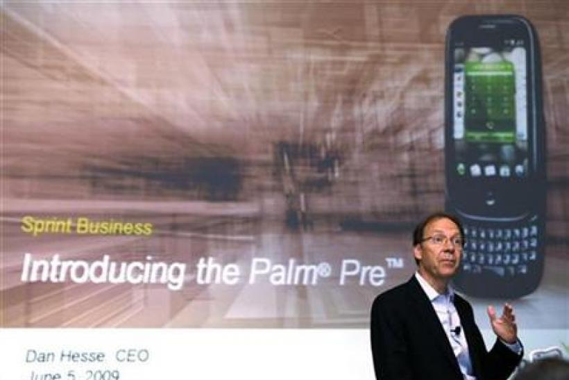 Dan Hesse, CEO of Sprint Nextel Corp., speaks during a news conference announcing the launch of the Palm Pre smartphone in New York