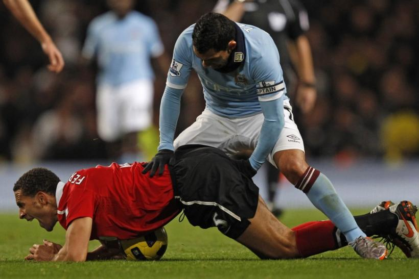 Tevez then turned to Ferdinand.
