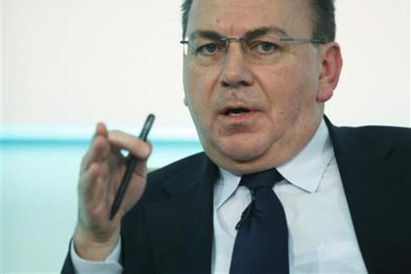 President of Germany's Bundesbank Weber speaks during panel discussion at economic leadership congress in Berlin