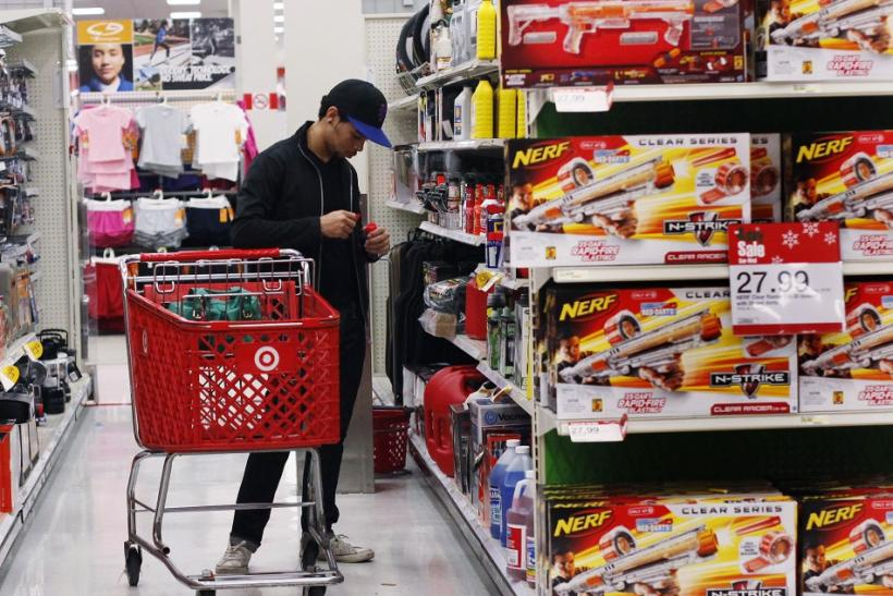A man shops inside a Target store in New York