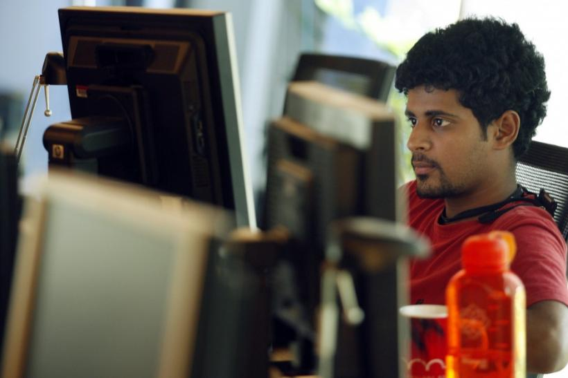 A researcher works on his terminal at the Microsoft India research centre in Bangalore June 24, 2009.