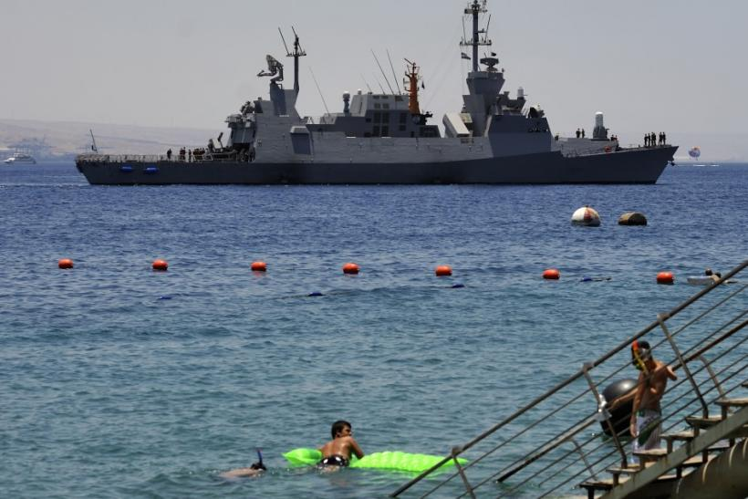 An Israeli warship arrives at an Israeli navy base in the Red Sea resort city of Eilat July 15, 200