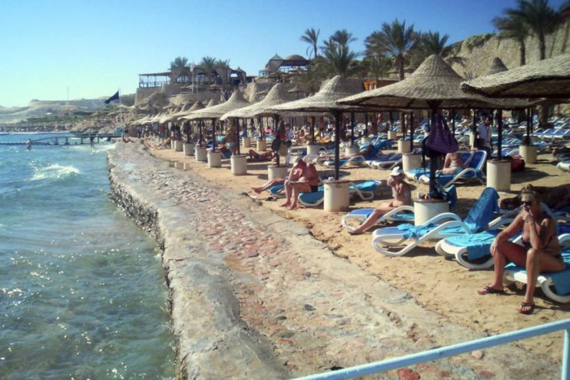 Tourists are seen at the Red Sea resort of Sharm el-Sheikh