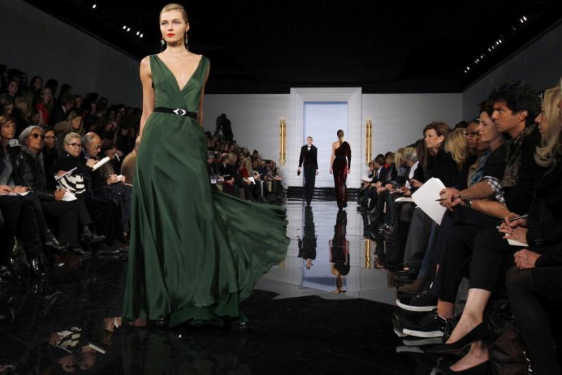 Models present creations at the Ralph Lauren Fall/Winter 2011 collection during New York Fashion Week