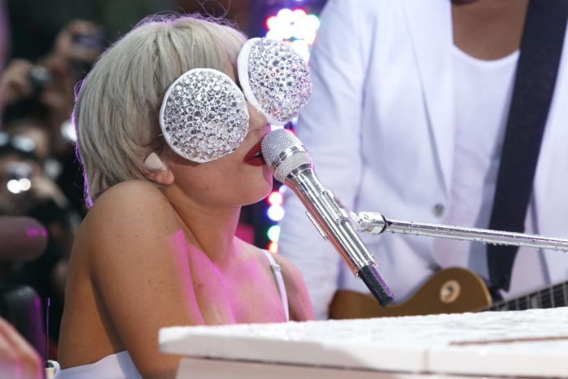 "Singer Lady Gaga performs on NBC's ""Today"" show in New York, July 9, 2010."