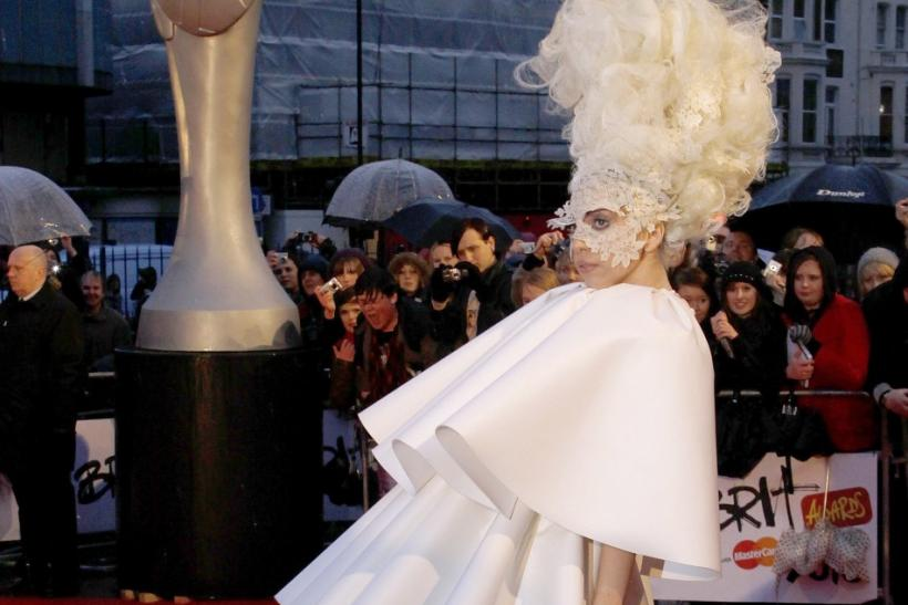 U.S. singer Lady Gaga arrives at the 30th Brit Awards ceremony at Earl's Court in London, February 16, 2010.