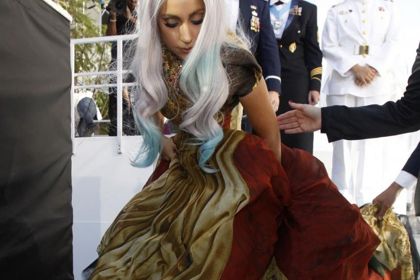 Lady Gaga arrives at the 2010 MTV Video Music Awards in Los Angeles, California September 12, 2010.