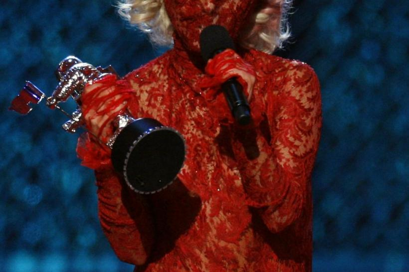 Lady Gaga accepts the award for best new artist at the 2009 MTV Video Music Awards in New York, September 13, 2009.