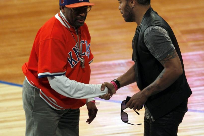Spike Lee and Lenny Kravitz