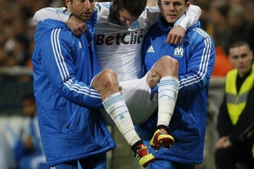 Marseille's Andre-Pierre Gignac is out against Manchester United