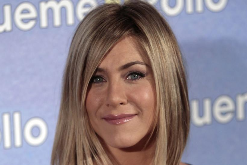 Jennifer Aniston poses to promote her movie 'Sigueme el rollo' in Madrid